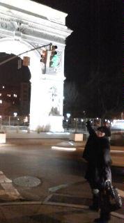 夜のWashington Square Park<br />  !